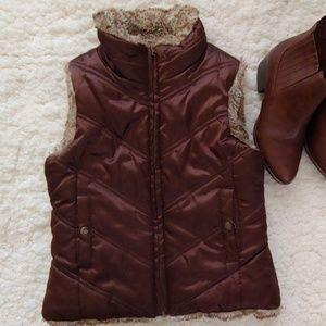 GAP Reversible Faux Fur Vest